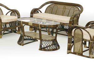 Изысканная плетёная мебель из ротанга