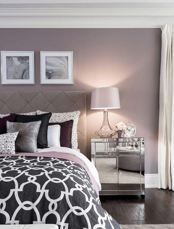 Цвет стен в спальне: сочетание цветов в интерьере, лучшие цветовые гаммы для покраски — 21 фото