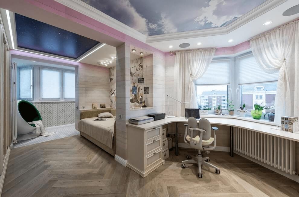 Комната для девочки-подростка — фото дизайна интерьера детской